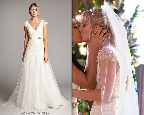 Wedding Gown Is Made From Ivory Lace And Organza With Gold Threading For A Romantic