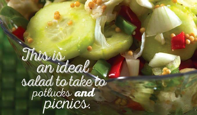 Mardi Gras Picnic Salad Recipe - SaskMustard