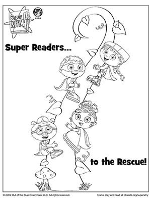 SUPER WHY Coloring Book Pages: SUPER WHY's Super Readers (via Parents.com)