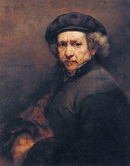 Rembrandt self portrait. Autoportrait avec béret et col droit est une peinture à l'huile du peintre hollandais Rembrandt, achevée en 1659 et aujourd'hui exposée à la National Gallery of Art de Washington DC, aux États-Unis. Portail de la peinture Portail du XVIIᵉ siècle