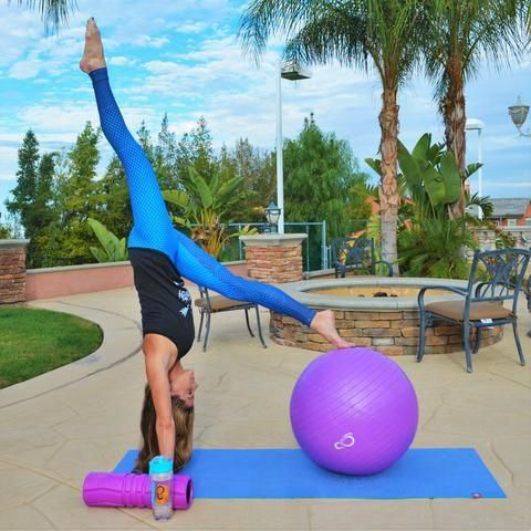 anti burst exercise ball perfect for yoga poses
