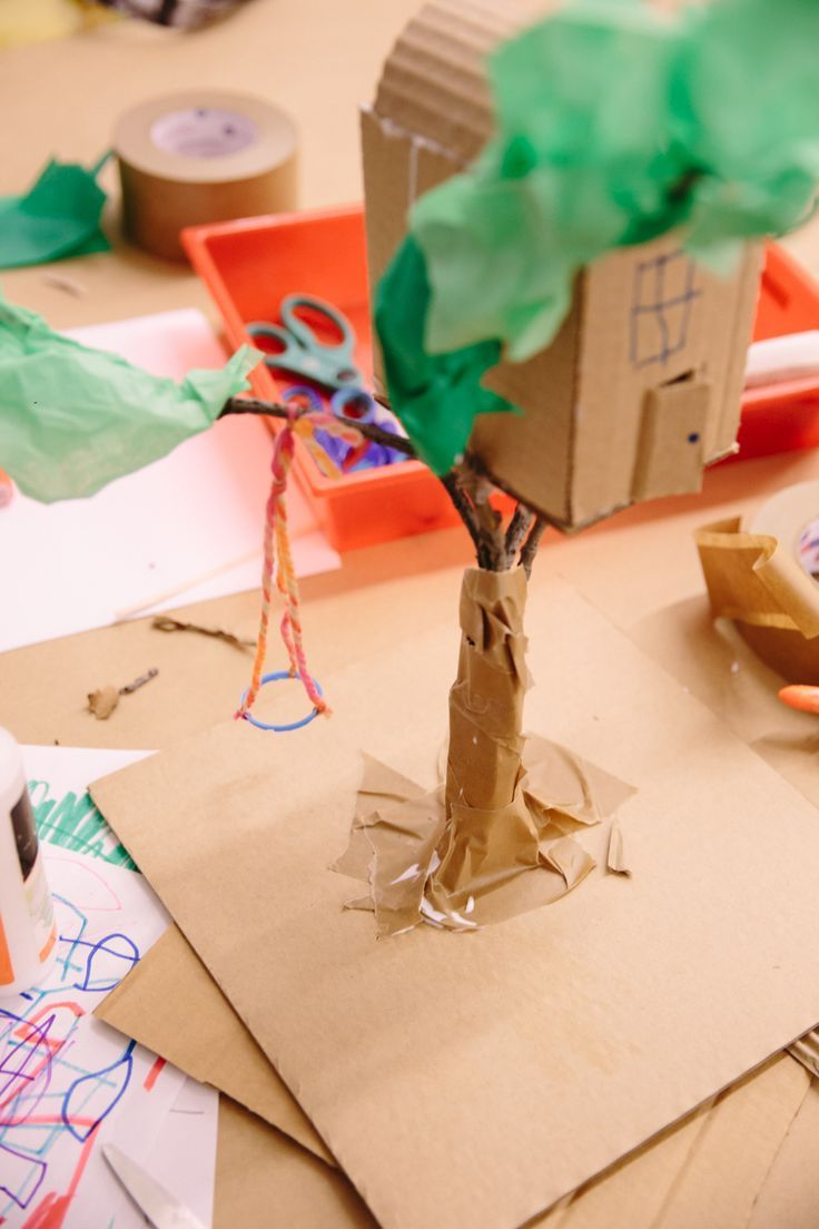 Build Yourself A Cardboard Tree House Great Craft For Kids B B
