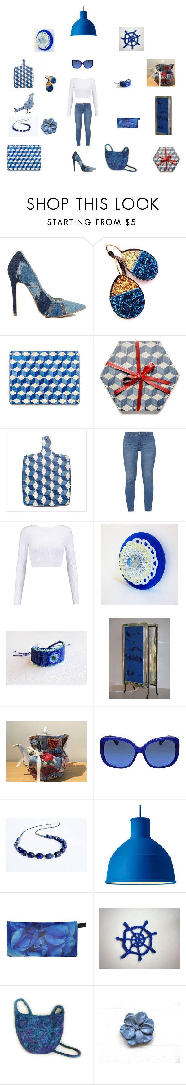 Denim Blues by einder on Polyvore featuring interior, interiors, interior design, home, home decor, interior decorating, Muuto, Cushnie Et Ochs, Dorothy Perkins and Lazuli