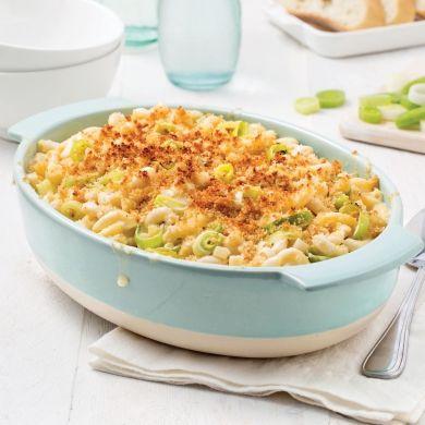 Macaroni au fromage et poireaux - Soupers de semaine - Recettes 5-15 - Recettes express 5/15 - Pratico Pratique
