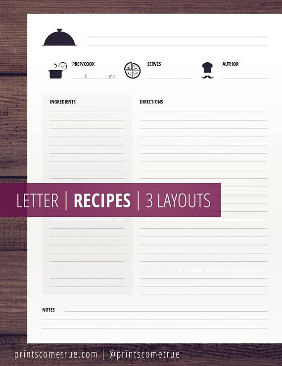 Recipe Printables Minimalist Clean Printable Cook Book Recipe Pages And Templates Recipe Printable Recipe Cards Recipe Cards Template Food Printables
