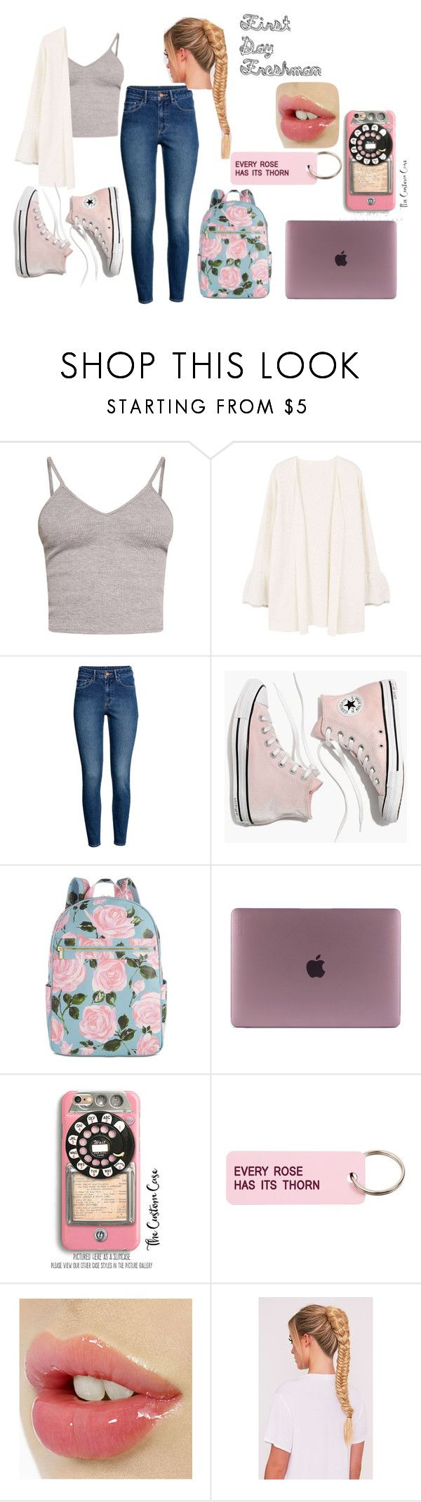 """First Day, Freshman!"" by abryancat ❤ liked on Polyvore featuring BasicGrey, MANGO, H&M, Madewell, ban.do, Samsung and Various Projects"