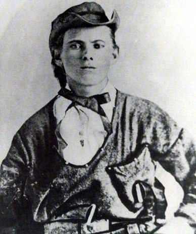 jesse woodson james descendants | Jesse Woodson James in Confederate guerilla uniform, age 16