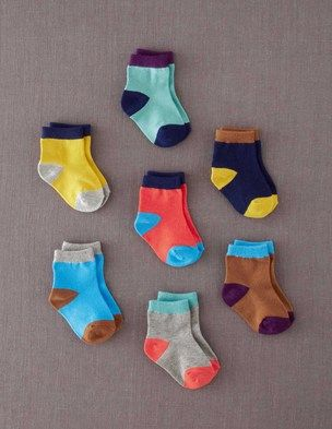 7 Pack Sock Box: Box Colourblock, Color, Boxes, Socks, Ground, Baby, Kid