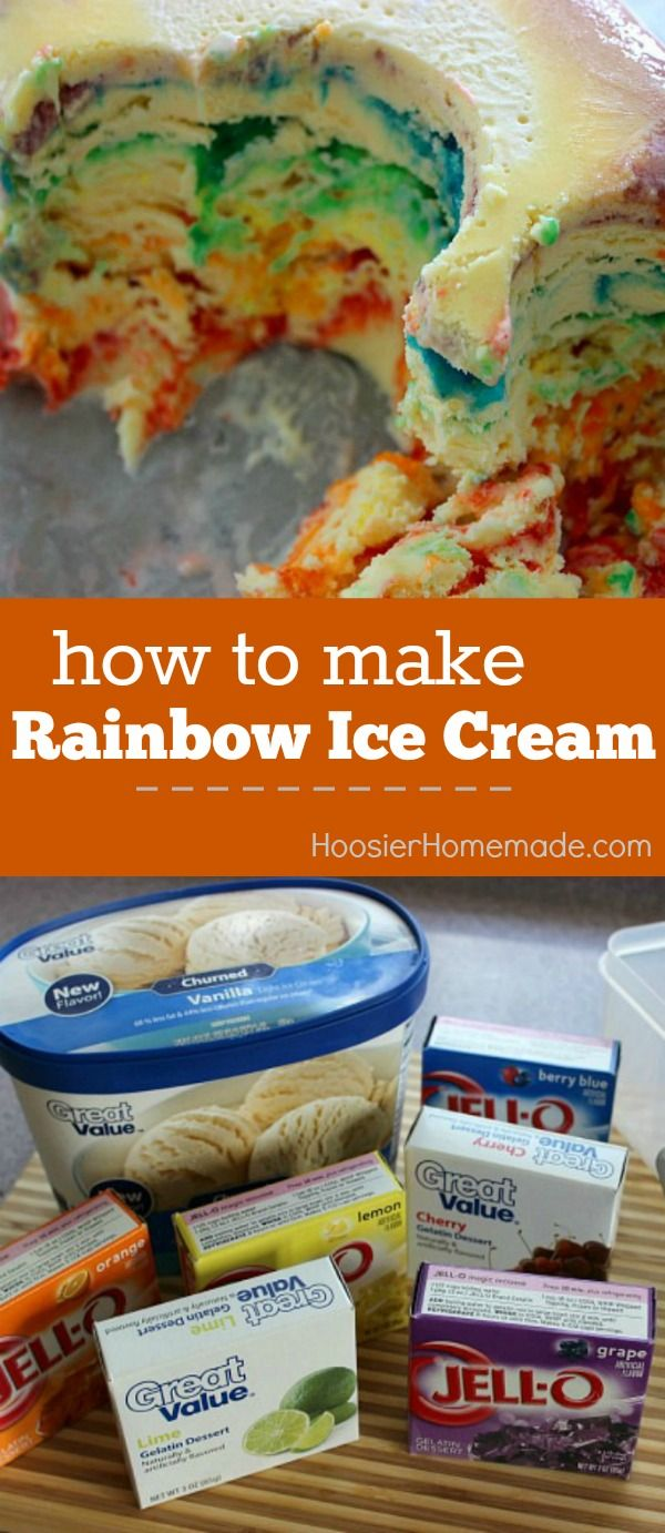 Rainbow Ice Cream - easy to make - perfect for your next Birthday Party! The kids will have a blast helping you make this special treat! Pin to your Recipe Board!