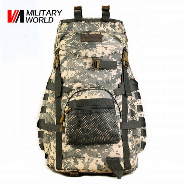 60L Tactical Molle Backpack Waterproof 900D Nylon Shoulder Pack