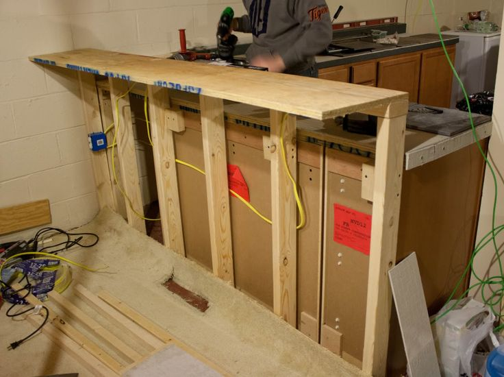 Diy Breakfast Bar Frame Built To An Existing Kitchen Island: Kitchen Bar Counter
