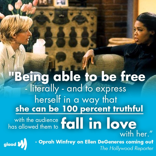 Image result for ellen and oprah on coming out