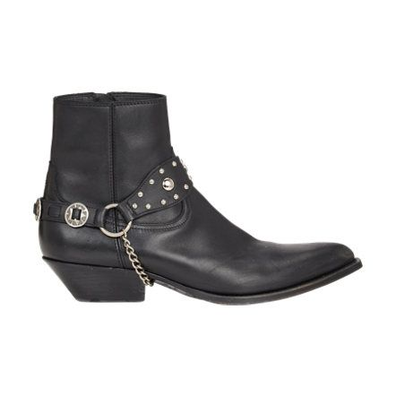Saint Laurent Harness-Strap Santiag Boots at Barneys.com
