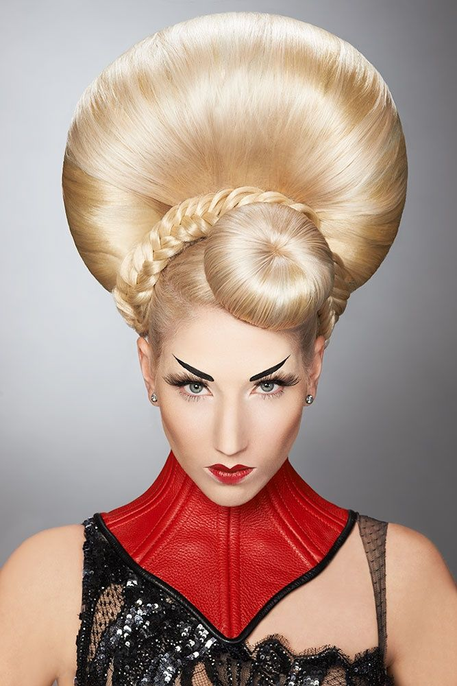 Blonde updo spectacular!