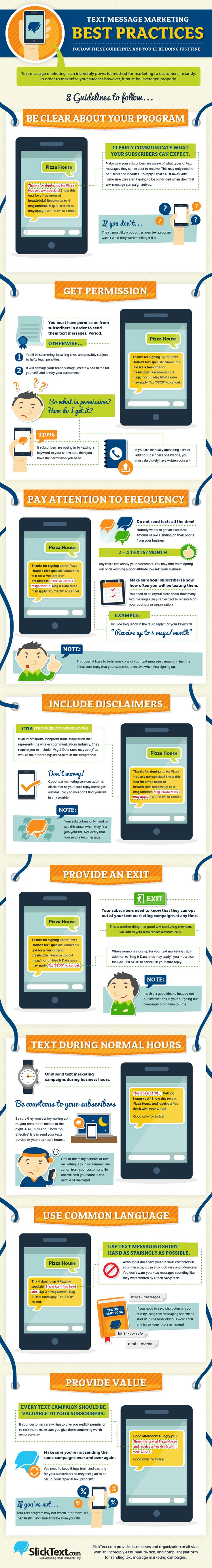 8 Text Message Marketing Best Practices (Infographic)