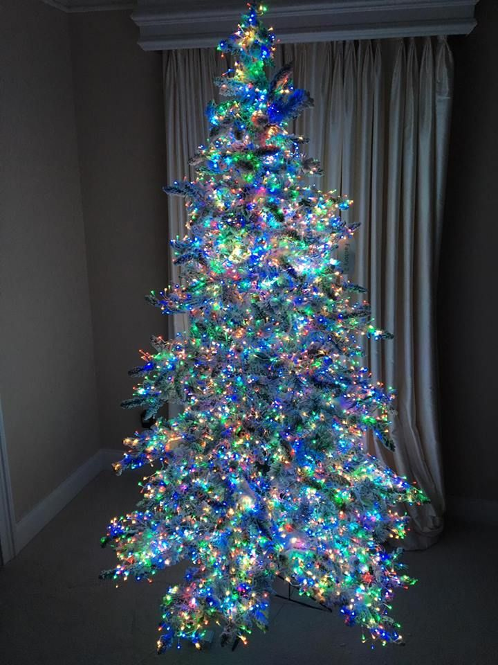 Christmas Tree With Multicolor Lights 675x900 Top 10 Christmas Decoration Ideas Trends Hanging Christmas Lights Pre Lit Christmas Tree Unique Christmas Trees