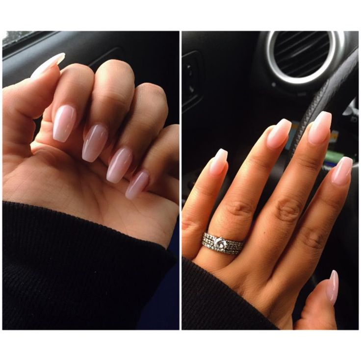 O.P.I Bubble Bath Pink Gel Coffin Nails/Ballerina Nails. Soooo in love with this shape. IG @jessbyou_