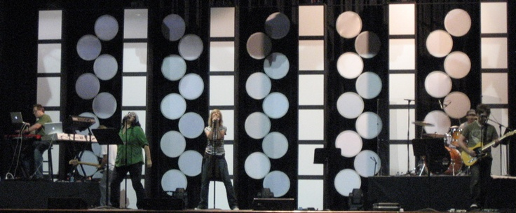 Buckhead Church Stage--styrofoam plates and construction paper sheets?