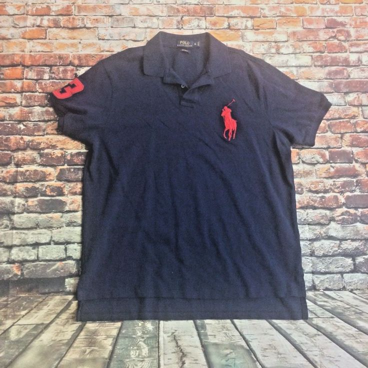 Polo By Ralph Lauren Men's Size XL Navy Blue Polo Logo Polo Shirt short sleeve #RalphLaurenPolo #PoloRugby