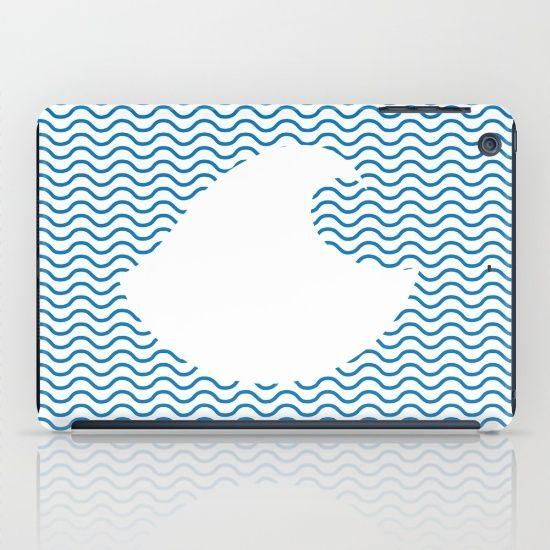 Wavy Wave iPad Case by Fimbis | Society6 water, wavy, ocean, nautical, sailing, sailor, sea, ocean, summer, beach, iPad mini, design, fashion,