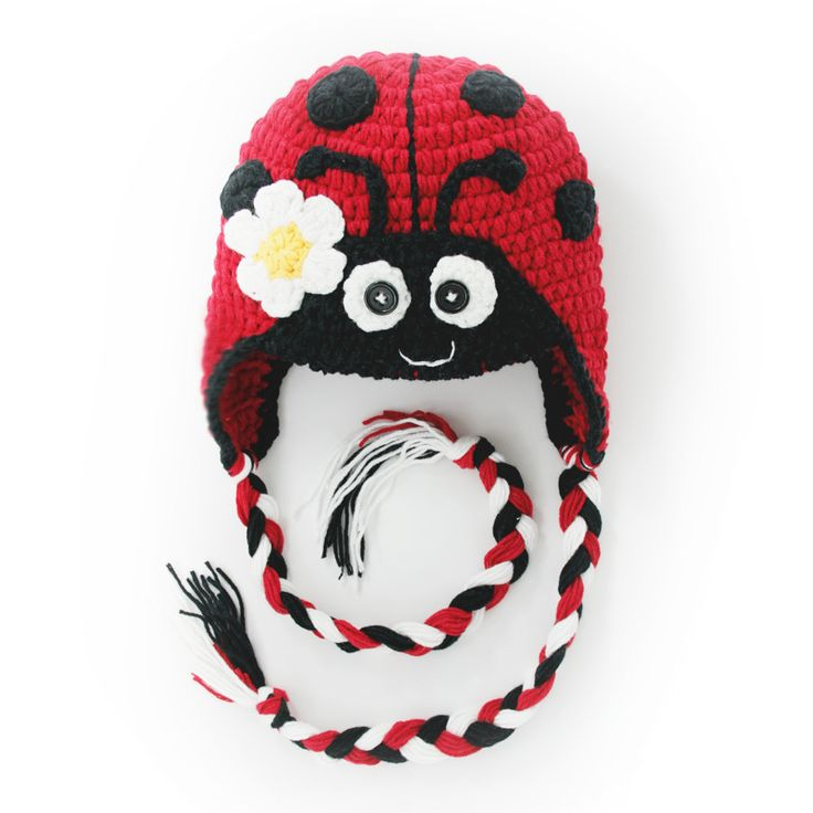 Baby,toddleer Crochet Baby Hat Beanie Hat Animal Hat Ladybug with Read Color Hand Made with 100%cotton Yarn. $15.00, via Etsy.