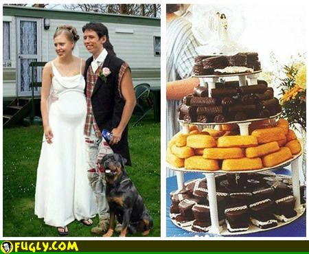 Funny Pictures From A Real Redneck Wedding Notice The Trailer House In Background And Dog Standing Beside Groom Yep This Is