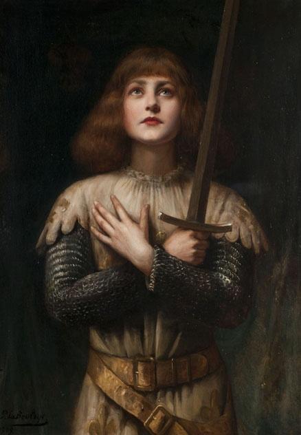 Paul Antoine de la Boulaye (1849-1926) - Sainte Jeanne d'Arc. Oil on Canvas. Circa 1909. 92cm x 65cm.