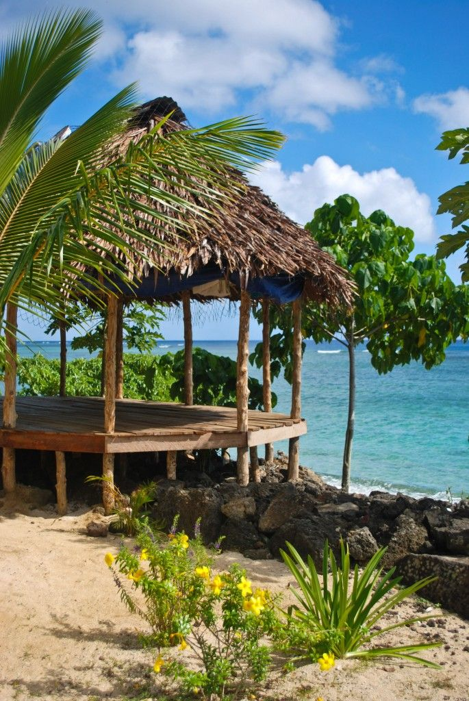 Manase Beach - Savaii, Samoa - These open-air fales have prime beachfront locations and are free to occupy. Of course the amenities are a bit limited!