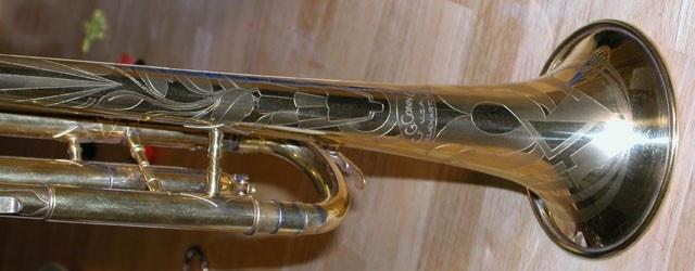 Conn Trumpet Art Deco Design