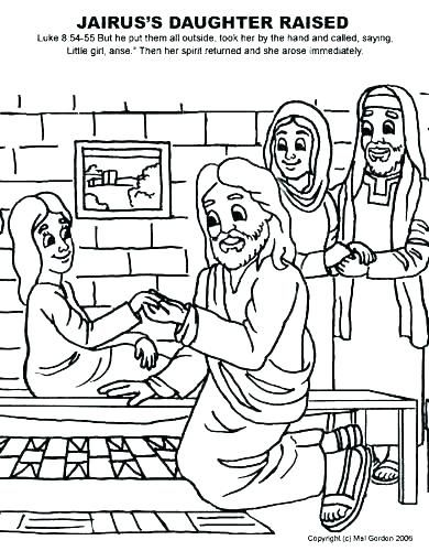 Image result for kids coloring pages jairus daughter