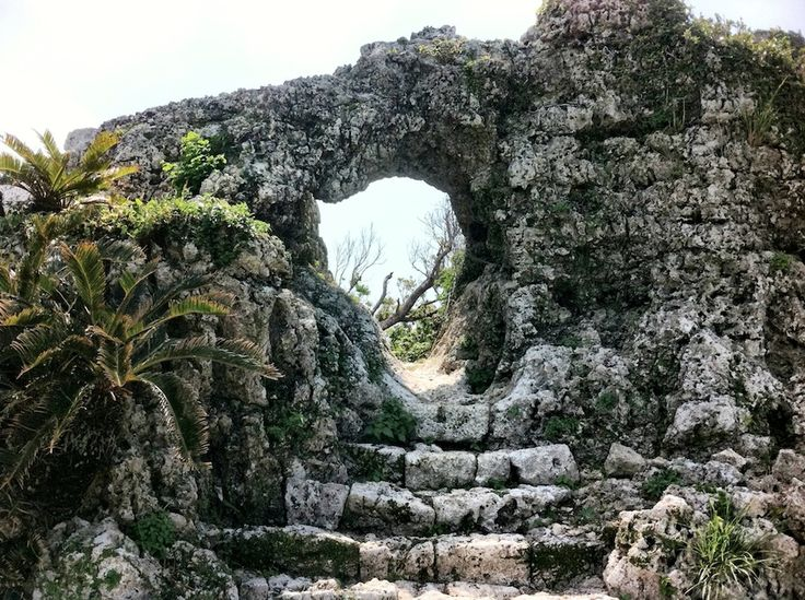 Tamagusuku Arch Castle Ruins. Nanjo Okinawa. On the way to peace memorial park. Info and directions in the link.