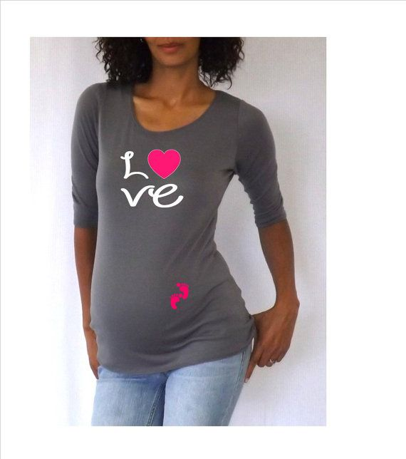 Maternity Cute Love Maternity Shirt Cute By DJammarMaternity