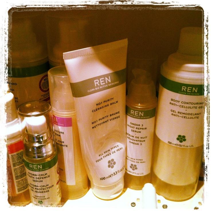 """Nothing better than a cupboard full of @RENskincare #tashloves"" @HonestlyHealthy"
