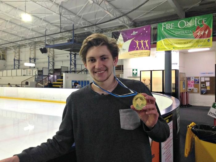 Harley Windsor Shows Off His Gold Medal At Canterbury Olympic Ice Rink In Sydney On October  Sport Stars Pinterest Sports Stars And Olympics