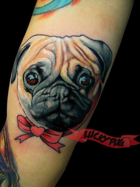 Pug Tattoo Photos | Tattoo Design Inspirations | Pug Dog Tattoo Pictures THIS WHOLE BLOG, BRITTANY. WHOLE. BLOG.