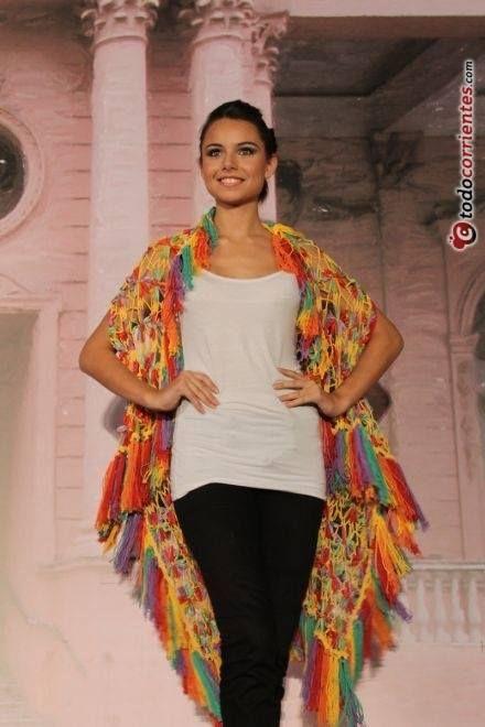 chaleco multicolor - en telarin