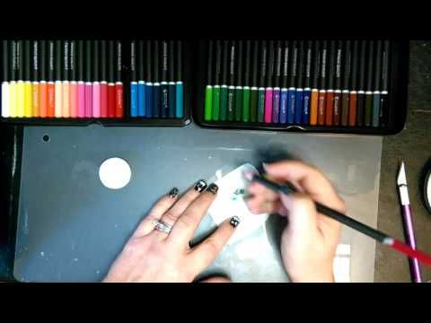 Transferring A Colored Pencil Image To Polymer Clay - YouTube