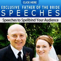 Best Father of the Bride Speech Examples