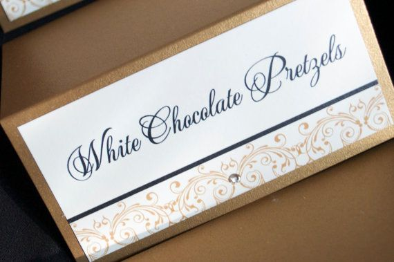 Wedding Candy Labels Sweet table tags escort cards by JaxDesigns27, $1.50
