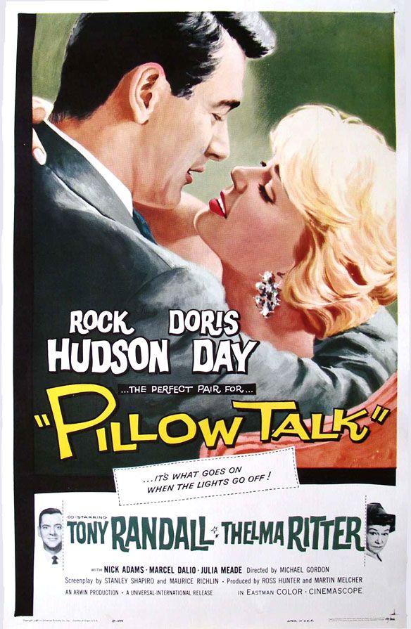 """Pillow Talk"" (1959) starring Doris Day & Rock Hudson, Tony Randall & Thelma Ritter, and directed by Michael Gordon. Interior designer falls for romeo lyricist. A classic.Movie Posters, Talk 1959, Dorisday, Rockhudson, Rocks Hudson, Rock Hudson, Pillows Talk, Favorite Movie, Doris Day"