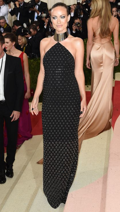 2016 MET Gala 'Manus x Machina: Fashion in an Age of Technology' - Olivia Wilde in Michael Kors Collection