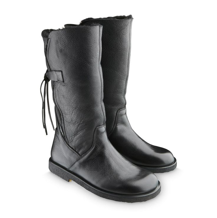 ANGULUS AW14 Womens  Boots Style 7334 Black Leather and sheep fur.