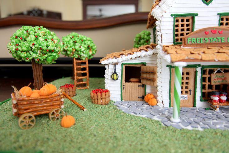 Gingerbread Apple Farm House. I  like the popcorn ball apple trees