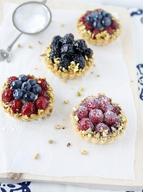 Crostate di frutta a base di Pâte Sucrée
