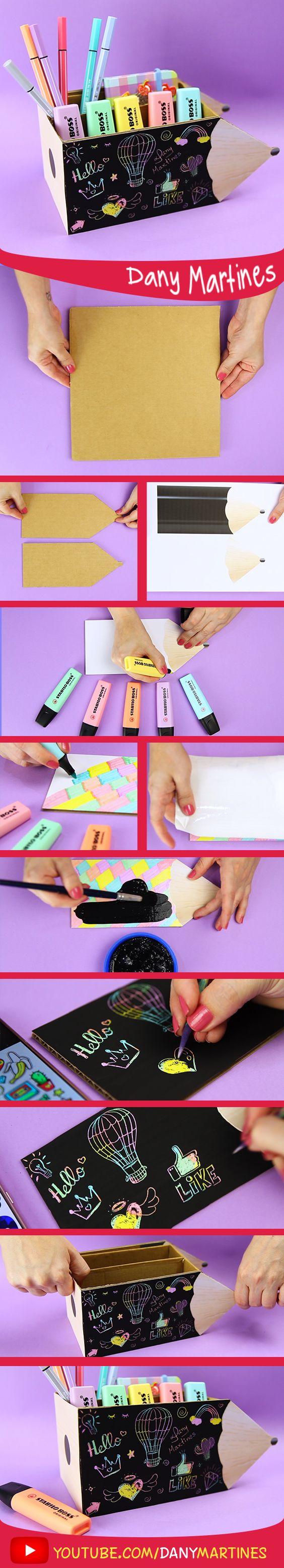 Faça você mesmo um porta treco incrivel, crie sua estampa, porta treco de lápis, colors, colorido, diy, do it yourself, Dany Martines