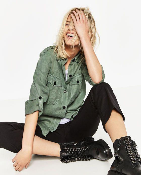 Image 8 of MILITARY SHIRT from Zara