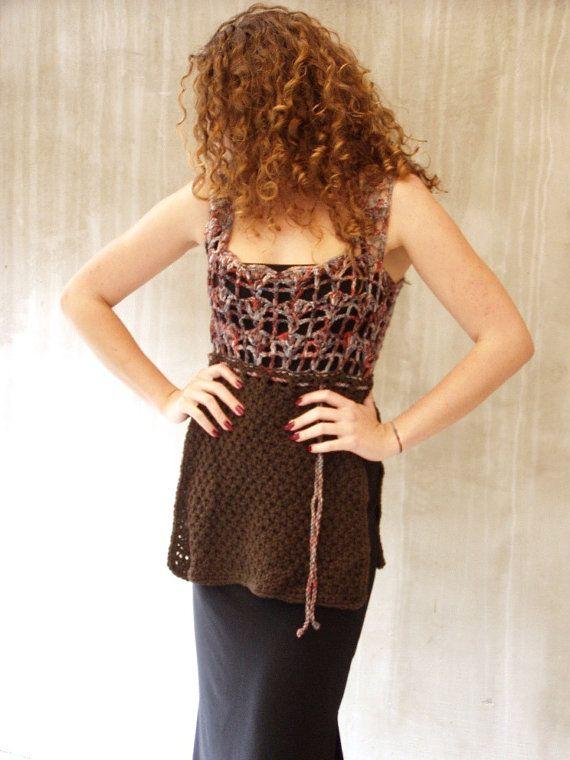 Fall fashion vest fall long vest wool long vest knit by HEraMade #fallvest #fallfashion #knitvest #longvest