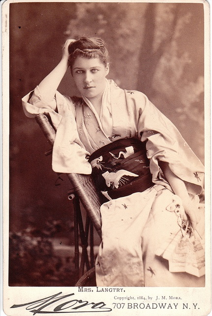 Lillie Langtry who was linked to Edward VII and Louis of Battenberg