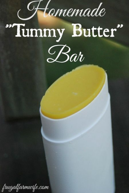 Homemade Tummy butter/stretch mark cream. You can make a hard-core moisturizer with just a few common ingredients. This recipe is excellent!