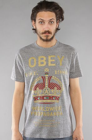 Obey The Royale Mandate TriBlend Tee in Heather Grey : Karmaloop.com - Global Concrete Culture